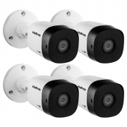 Kit 4 Câmeras Multi HD 2 Megapixels 3.6mm 20m VHD 1220 B G6 Intelbras