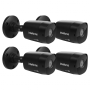 Kit 4 Câmeras Multi HD 2 Megapixels 3.6mm 20m VHD 1220 B G6 BLACK Intelbras