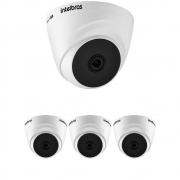 Kit 4 Câmeras Multi HD 2 Megapixels 2.8mm 20m VHD 1220 D G6 Intelbras