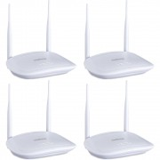 Kit 4 Roteadores Wireless 5 dBi 300Mbps com IPv6 IWR 3000 N Intelbras