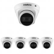 Kit 5 Câmeras IP 1 Megapixel 2.8mm 30m PoE VIP 1130 D Intelbras