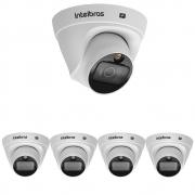 Kit 5 Câmera IP 2 Megapixels 2.8mm 20m PoE VIP 1220 D FULL COLOR Intelbras