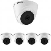 Kit 5 Câmeras Multi HD 2 Megapixels 2.8mm 20m VHD 1220 D G6 Intelbras
