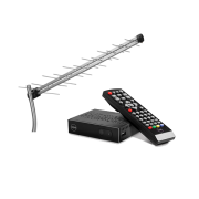 Kit Antena De TV Digital AE 1028 Intelbras + 1 Conversor Digital De TV com Gravador HDMI USB RCA - K 900 Keo