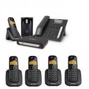 Kit Central Telefônica Sem Fio MiniCom Plus + 4 Ramais Intelbras