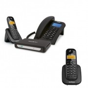 Kit Central Telefônica Sem Fio MiniCom Slim + 1 Ramal Intelbras