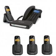 Kit Central Telefônica Sem Fio MiniCom Slim + 3 Ramais Intelbras
