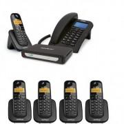 Kit Central Telefônica Sem Fio MiniCom Slim + 4 Ramais Intelbras