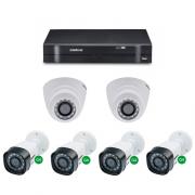 Kit CFTV Dvr Stand Alone 8 Canais + 6 Câmeras 1 Mega - Intelbras