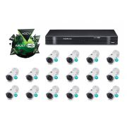 Kit CFTV DVR Stand Alone com 16 Câmeras Multi HD Intelbras