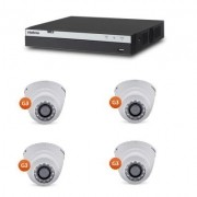 Kit Cftv Dvr Stand Alone Full HD 4 Canais Multi Hd Intelbras