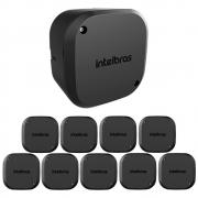 Kit 10 Caixas de Passagem Plástica Câmeras Bullet/Dome Externo VBOX 1100 E BLACK Intelbras