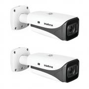 Kit 2 Câmeras IP 5 Megapixels 2.7 a 13,5mm 50m Inteligência Artificial VIP 5550 Z IA Intelbras