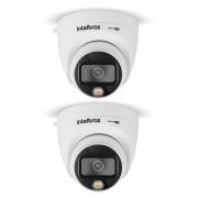 Kit 2 Câmeras Multi HD 2 Megapixels 2.8mm 20m VHD 1220 D FULL COLOR Intelbras