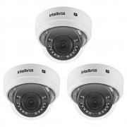 Kit 3 Câmeras IP Sem Fio Wi-Fi Full HD 2.8mm 30m VIP 1230 D W Intelbras