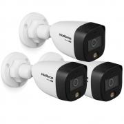 Kit 3 Câmeras Multi HD 2 Megapixels 3.6mm 20m VHD 1220 FULL COLOR Intelbras