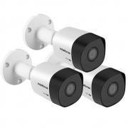 Kit 3 Câmeras Multi HD 2 Megapixel 3.6mm 30m VHD 3230 B G6 Intelbras