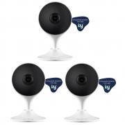 Kit com 3 Câmeras Wi-Fi Inteligente Full HD Smart IZC 1003 Intelbras