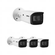 Kit 4 Câmeras IP 2 Megapixels Varifocal 2.7 a 13.5mm 60m Zoom 16X VIP 3260 Z G2 Intelbras