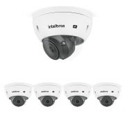 Kit 5 Câmeras IP 5 Megapixels 2.7 a 13,5mm 50m Inteligência Artificial VIP 5550 D Z IA Intelbras