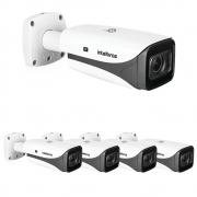 Kit 5 Câmeras IP 5 Megapixels 2.7 a 13,5mm 50m Inteligência Artificial VIP 5550 Z IA Intelbras