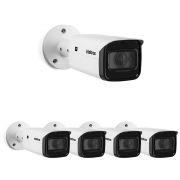 Kit 5 Câmeras IP 2 Megapixels Varifocal 2.7 a 13.5mm 60m Zoom 16X VIP 3260 Z G2 Intelbras