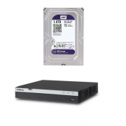 Kit DVR 08 Ch Multi HD MHDX 3008 + HD 1 TB Purple Intelbras
