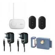 Kit Controle de Acesso Sem Fio com Fechadura e 2 Controles Pretos - Intelbras