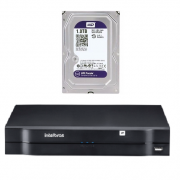 Kit Nvr 08 Canais IP PoE NVD 3108 P + HD 1 TB Purple Intelbras