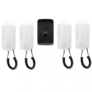 Kit Porteiro Eletrônico com 4 Interfones IPR 1010 Intelbras