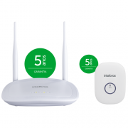 Kit Roteador Wireless Wi-Fi 300 Mpbs IWR 3000 N + Repetidor De Sinal IWE 3000 N - Intelbras