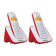 Kit Telefone Sem Fio + 1 Ramal Branco e Vermelho TS 3110 - Intelbras