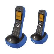 Kit Telefone Sem Fio Com Design Exclusivo TS 8220 + 1 Ramal Azul - Intelbras