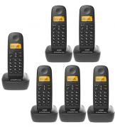 Kit Telefone Sem Fio TS 2510 + 5 Ramais TS 2511 Intelbras