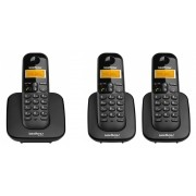 Kit Telefone Sem Fio Ts 3110 + 2 Ramais Ts 3111 Intelbras