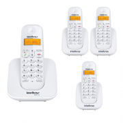 Kit Telefone Sem Fio Ts 3110 + 3 Ramais Ts 3111 Branco Intelbras