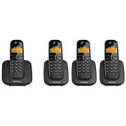 Kit Telefone Sem Fio Ts 3110 + 3 Ramais Ts 3111 Intelbras