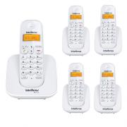 Kit Telefone Sem Fio Ts 3110 + 4 Ramais Ts 3111 Branco Intelbras