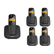 Kit Telefone Sem Fio Ts 3110 + 4 Ramais Ts 3111 Intelbras