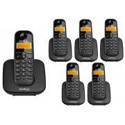 Kit Telefone Sem Fio Ts 3110 + 5 Ramais Ts 3111 Intelbras