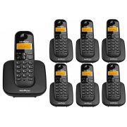 Kit Telefone Sem Fio Ts 3110 + 6 Ramais Ts 3111 Intelbras
