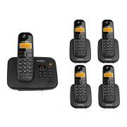 Kit Telefone Sem Fio Ts 3130 + 4 Ramais Ts 3111 Intelbras
