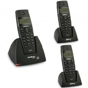 Kit Telefone Sem Fio TS 40 ID + 2 Ramais TS 40 R Intelbras