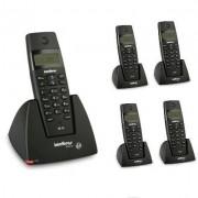 Kit Telefone Sem Fio TS 40 ID + 4 Ramais TS 40 R Intelbras
