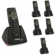 Kit Telefone Sem Fio TS 40 ID + 5 Ramais TS 40 R Intelbras