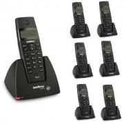 Kit Telefone Sem Fio TS 40 ID + 6 Ramais TS 40 R Intelbras
