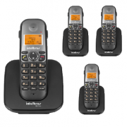Kit Telefone Sem Fio TS 5120 + 3 Ramais TS 5121 Intelbras