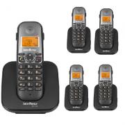 Kit Telefone Sem Fio TS 5120 + 4 Ramais TS 5121 Intelbras