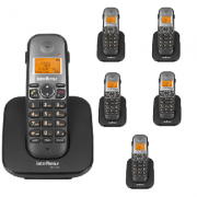 Kit Telefone Sem Fio TS 5120 + 5 Ramais TS 5121 Intelbras