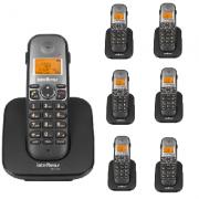 Kit Telefone Sem Fio TS 5120 + 6 Ramais TS 5121 Intelbras